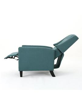 Izaak Tufted Back Fabric Recliner Chair by Gdf Studio