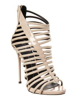 giuseppe-zanotti-priscilla-suede-&-patent-cage-sandal by giuseppe-zanotti