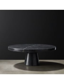 Marshall Black Marble Cake Stand by Crate&Barrel