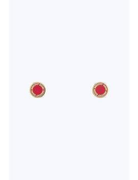 Logo Disc Stud Earrings by Marc Jacobs
