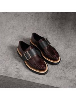 Woven Toe Leather Shoes by Burberry