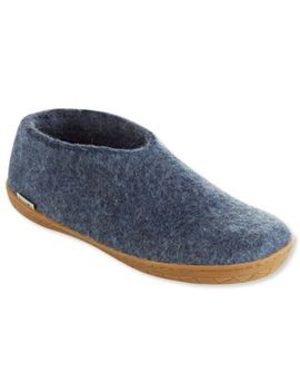 Adults' Glerups Wool Slipper Shoes, Rubber Outsole by L.L.Bean