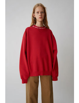 Yana Rib Ruby Red by Acne Studios