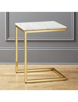 Smart Marble Brass C Table by Crate&Barrel