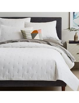 Organic Washed Cotton Quilt + Shams by West Elm