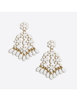 Lace Enamel Statement Earrings by J.Crew