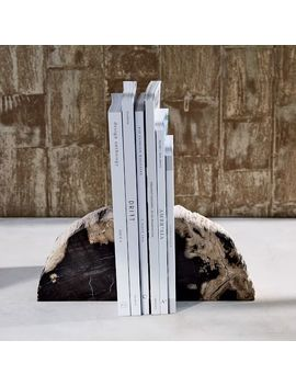 Petrified Wood Bookends (Set Of 2) by West Elm