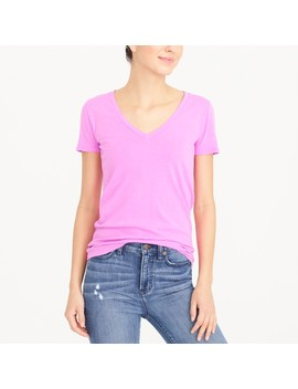 Vintage Cotton Garment Dyed V Neck T Shirt by J.Crew