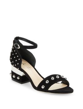 Monroe Suede Ankle Strap Sandals by Michael Kors Collection