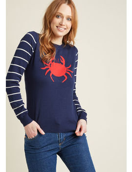 Chatty Crabby Knit Sweater Chatty Crabby Knit Sweater by Modcloth