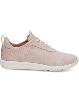 Blossom Basketweave Slub Chambray Women's Cabrillo Sneakers by Toms