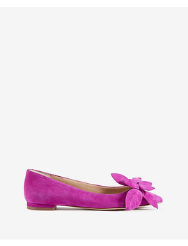 Rena Suede Flower Flats by Ann Taylor