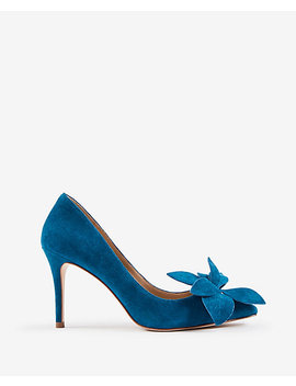 Effie Suede Flower Pumps by Ann Taylor