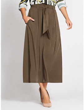Gabrielle Union Collection   Paperbag Waist Palazzo Pant by New York & Company