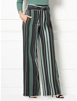 Eva Mendes Collection   Marrisa Palazzo Pant   Stripe by New York & Company