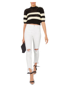 High Line Blanc Destructed White Jeans by L'agence