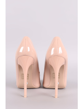 Patent Pointy Toe Stiletto Pump by Urbanog