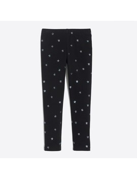 Girls' Glitter Star Leggings by J.Crew