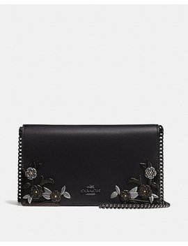Foldover Chain Clutch With Metal Tea Rose by Coach