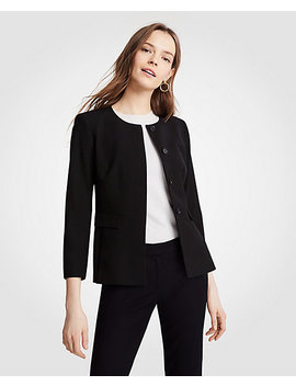 Petite Seasonless Stretch Peplum Jacket by Ann Taylor