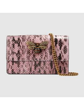 Queen Margaret Snakeskin Mini Bag by Gucci