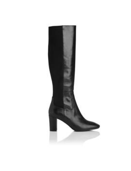 Brianna Black Leather Knee Boots by L.K.Bennett