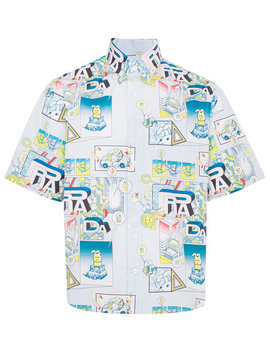 comic-print-cotton-shirt by prada