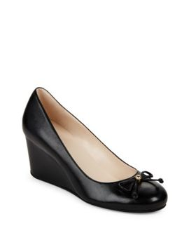 Elsie Leather Bow Wedges by Cole Haan