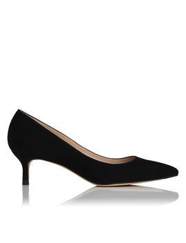 Audrey Black Suede Heel by L.K.Bennett