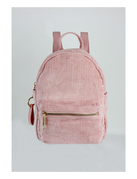 London Rag Ladies Fashion Corduroy Pink Backpacks by London Rag