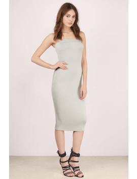 Khloe Modal Grey Midi Dress by Tobi