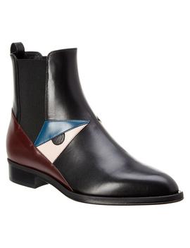Fendi Buggie Eyes Leather Chelsea Boot by Fendi