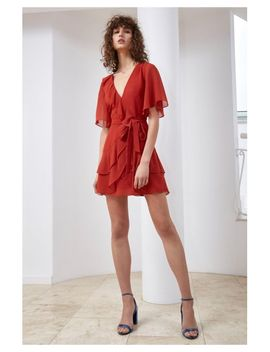 Women's Red Allude Mini Dress by C/Meo Collective