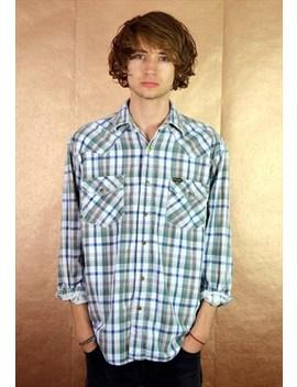 90s Vintage Wrangler Patterened Cord Shirt by Wrangler