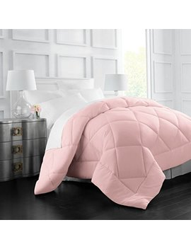 egyptian-luxury-goose-down-alternative-comforter---all-season---2100-series-hotel-collection---luxury-hypoallergenic-comforter---twin_twinxl---pink by italian-luxury