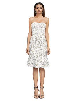 Lynne Jacquard Strapless Dress by Bcbgmaxazria