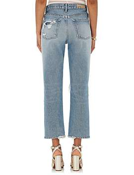 Helena Distressed Straight Crop Jeans by Grlfrnd