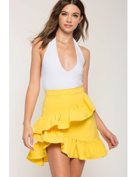 Rhi Rhi Ruffle Layer Mini Skirt by A'gaci