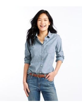 Classic Cotton Shirt, Chambray by L.L.Bean