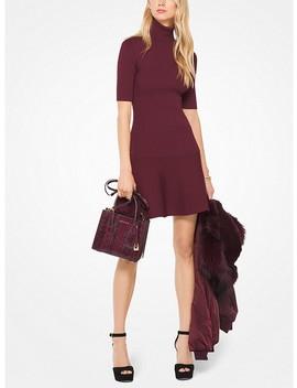 Ribbed Turtleneck Dress by Michael Michael Kors
