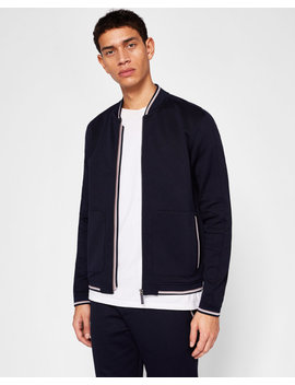 Stripe Detail Bomber Jacket by Ted Baker