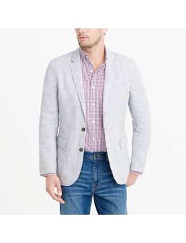 Thompson Unstructured Linen Blazer by J.Crew