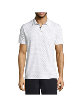 Claiborne Short Sleeve Pattern Jersey Polo Shirt by Claiborne