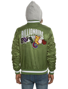 The Space Walk Jacket In Garden Green by Billionaire Boys Club