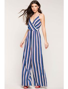 Bayside Stripe Jumpsuit by A'gaci