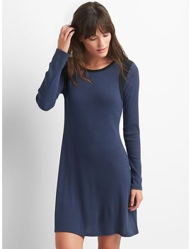 Colorblock Ribbed Swing Dress by Gap
