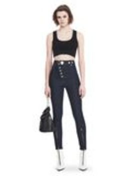 High Waisted Denim Leggings With Multi Snap Detail by Alexander Wang