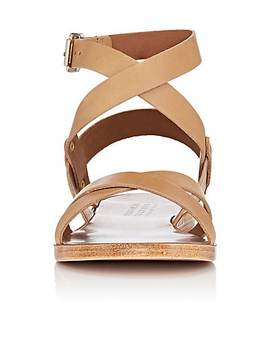Leather Ankle Wrap Sandals by Barneys New York