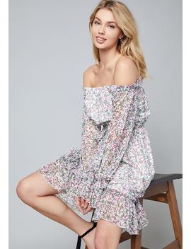 Dakota Off Shoulder Dress by Bebe