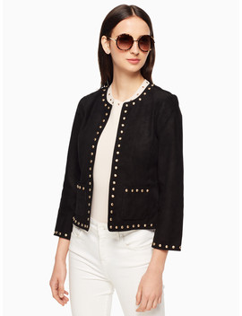 Studded Suede Jacket by Kate Spade